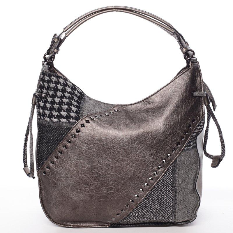 Elegantní podzimní kabelka Josette, stříbrná