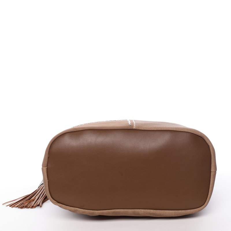 Krémově hnědá, elegantní kabelka Robel