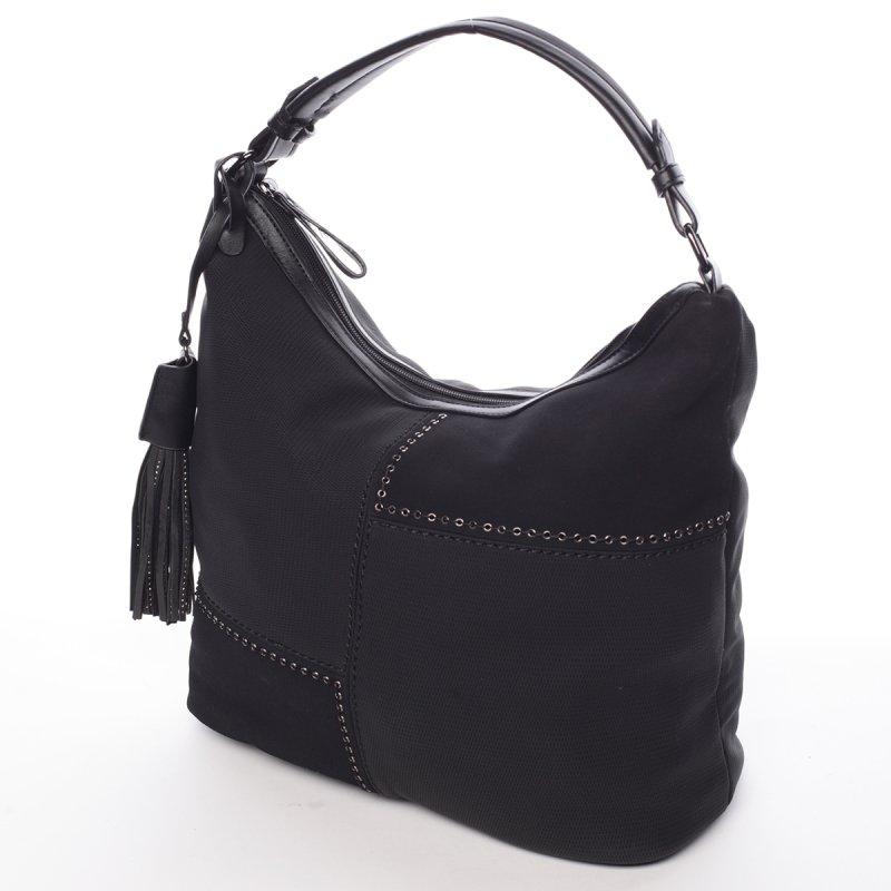 Černá, elegantní kabelka Robel