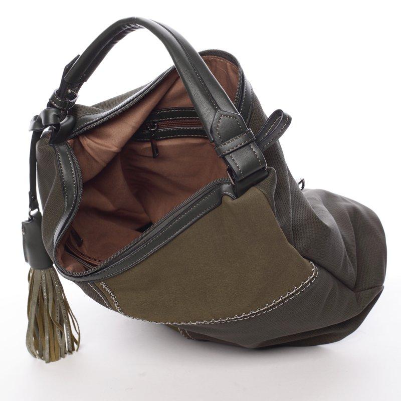 Zelená, elegantní kabelka Robel