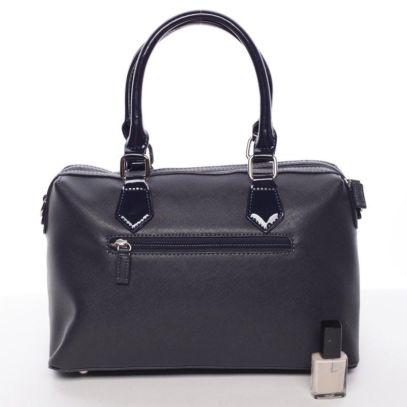 Stylová, prostorná kabelka Valentina, modrá