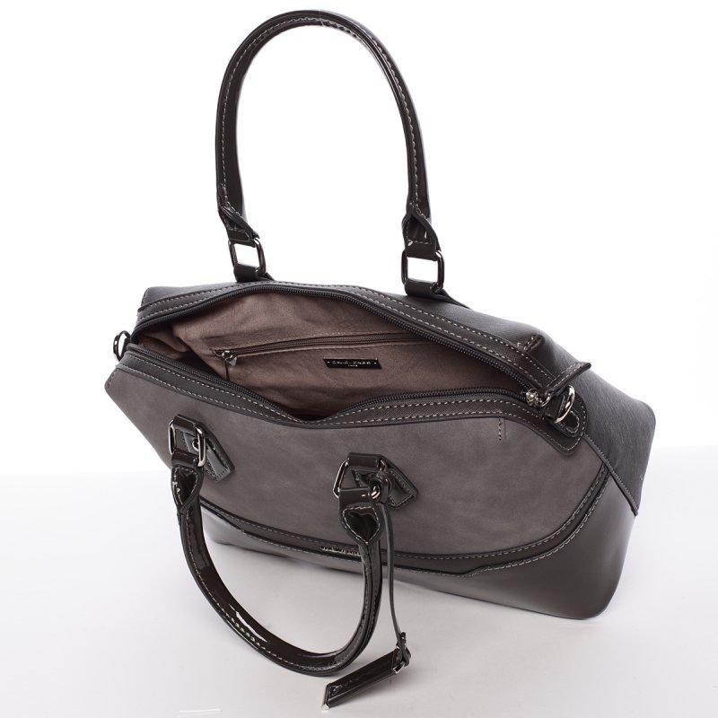 Stylová, prostorná kabelka Valentina, tmavě šedá