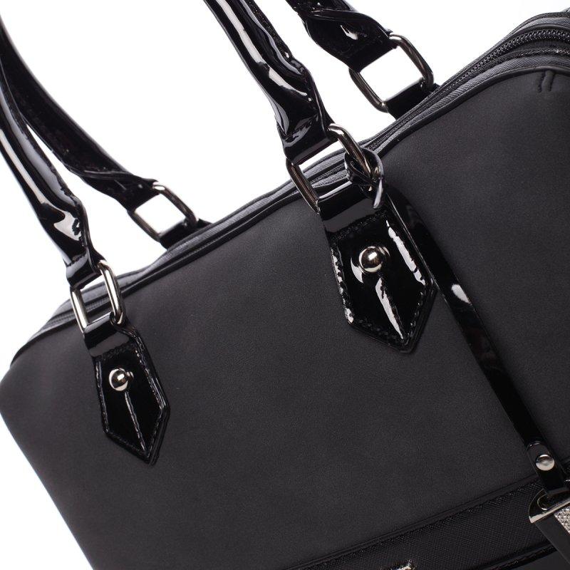 Stylová, prostorná kabelka Valentina, černá