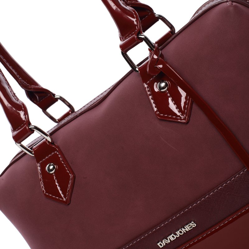 Stylová, prostorná kabelka Valentina, vínově červená