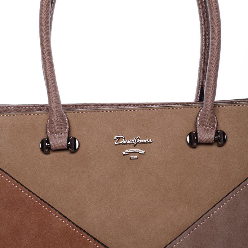 Trendy elegantní kabelka Rachel, růžová/ písková