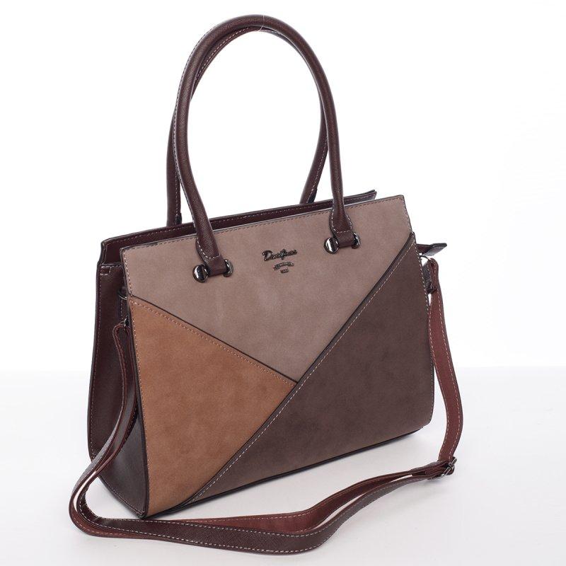 Trendy elegantní kabelka Rachel, tmavě hnědá