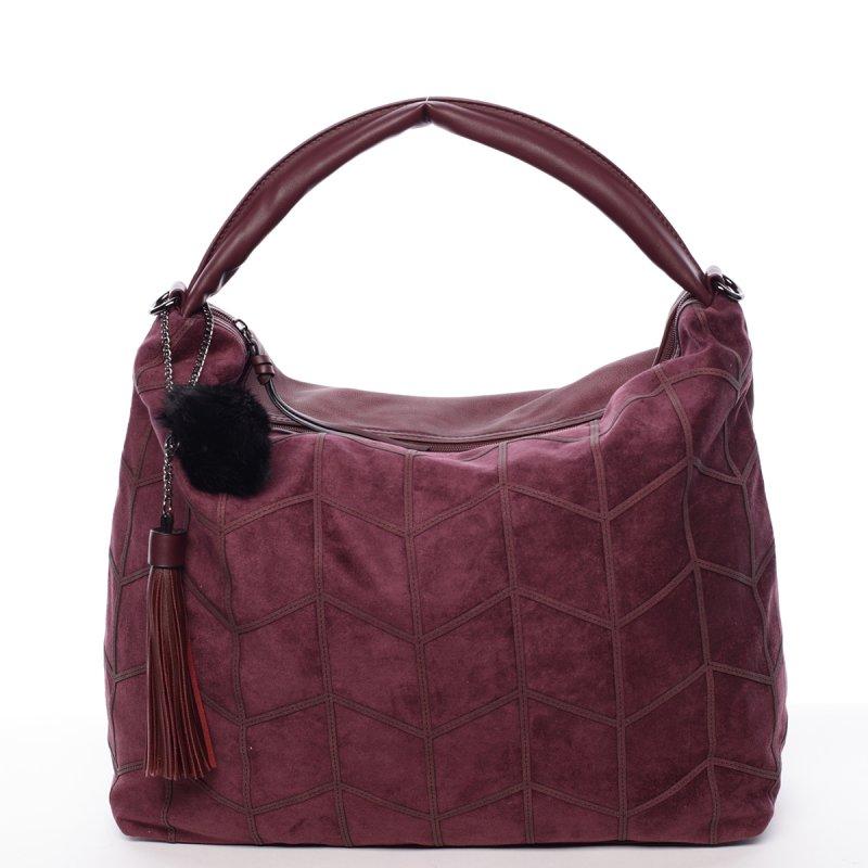 Moderní dámská kabelka Debora, vínově červená