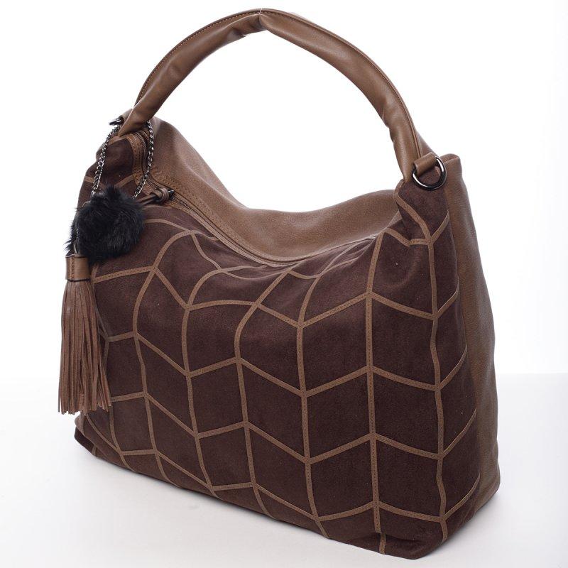 Moderní dámská kabelka Debora, hnědá