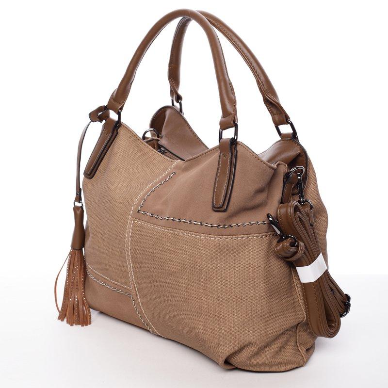 Hnědá/béžová dámská kabelka Violeta