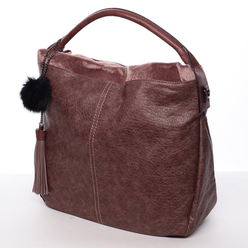 Velká dámská kabelka Samanta, tmavě růžová