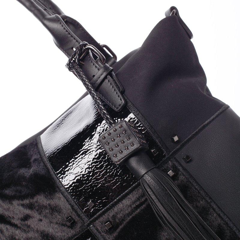 Stylová dámská kabelka Perla, černá