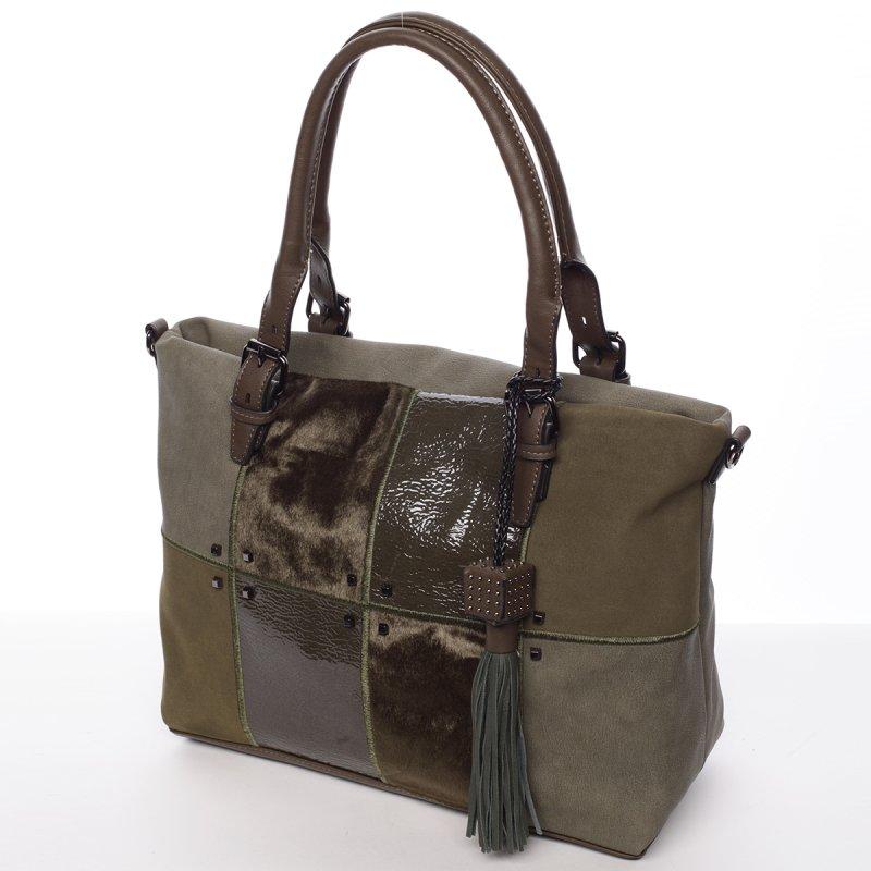 Stylová dámská kabelka Perla, zelená