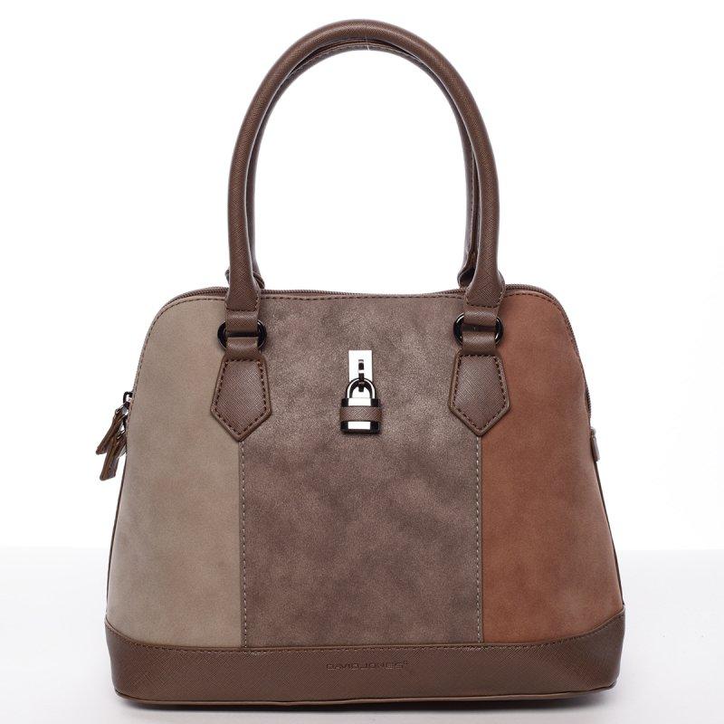 Luxusní dámská kabelka Corinne, hnědá