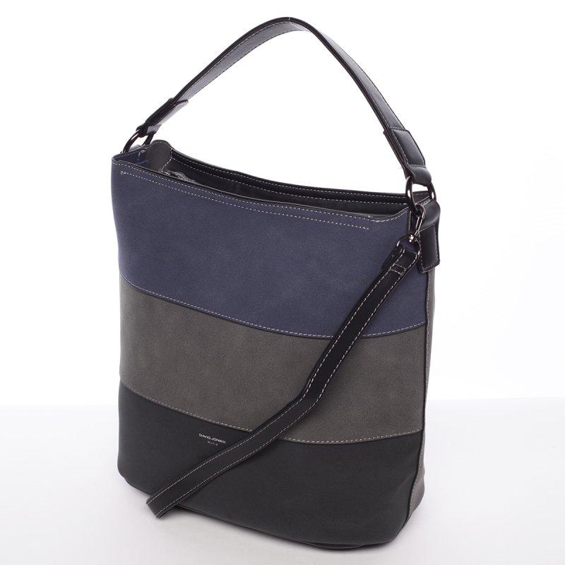Moderní dámská crossbody kabelka Elodie,černá/modrá