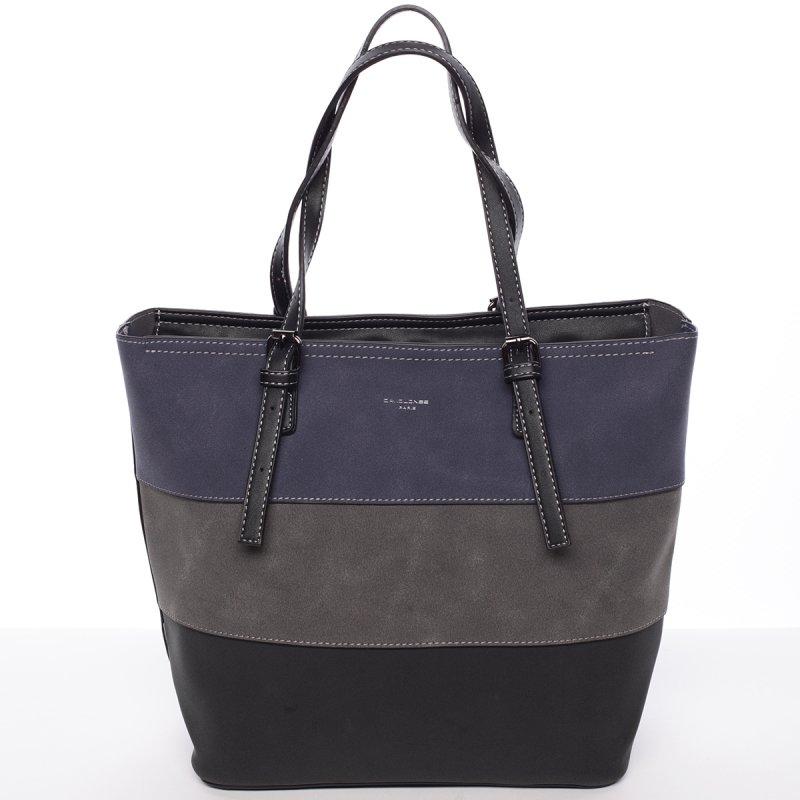 Pevná dámská kabelka Elodie, modrá/černá