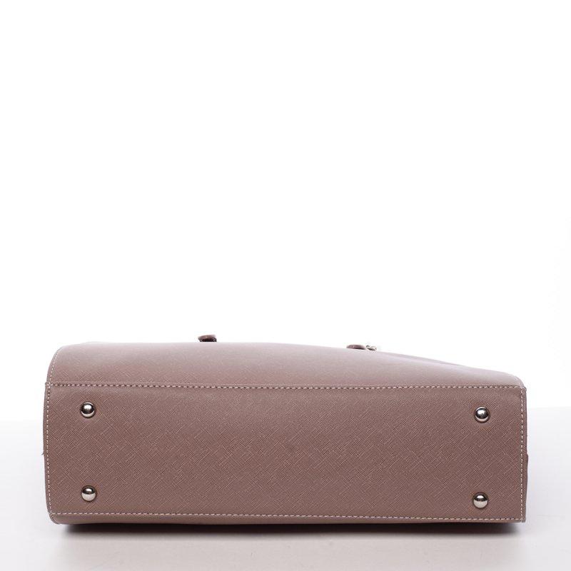 Pevná dámská kabelka Odette, tmavě růžová