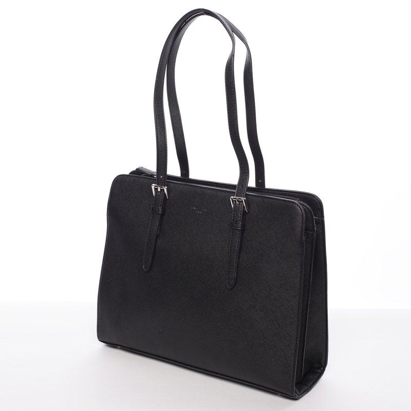 Pevná dámská kabelka Odette, černá