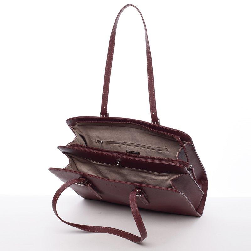 Pevná dámská kabelka Odette, tmavě vínová