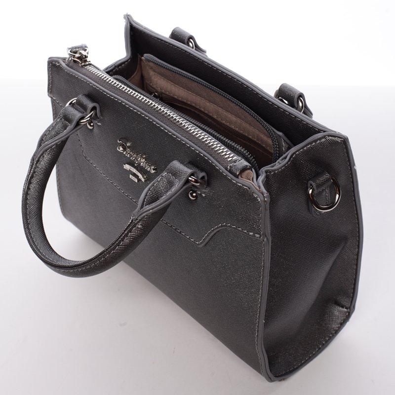 Dámská crossbody kabelka Nicole, stříbrná