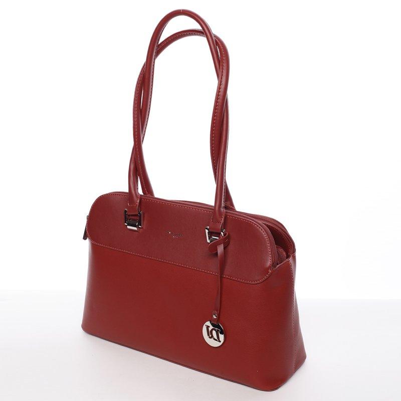 Dámská kabelka Jeanne přes rameno, tmavě červená