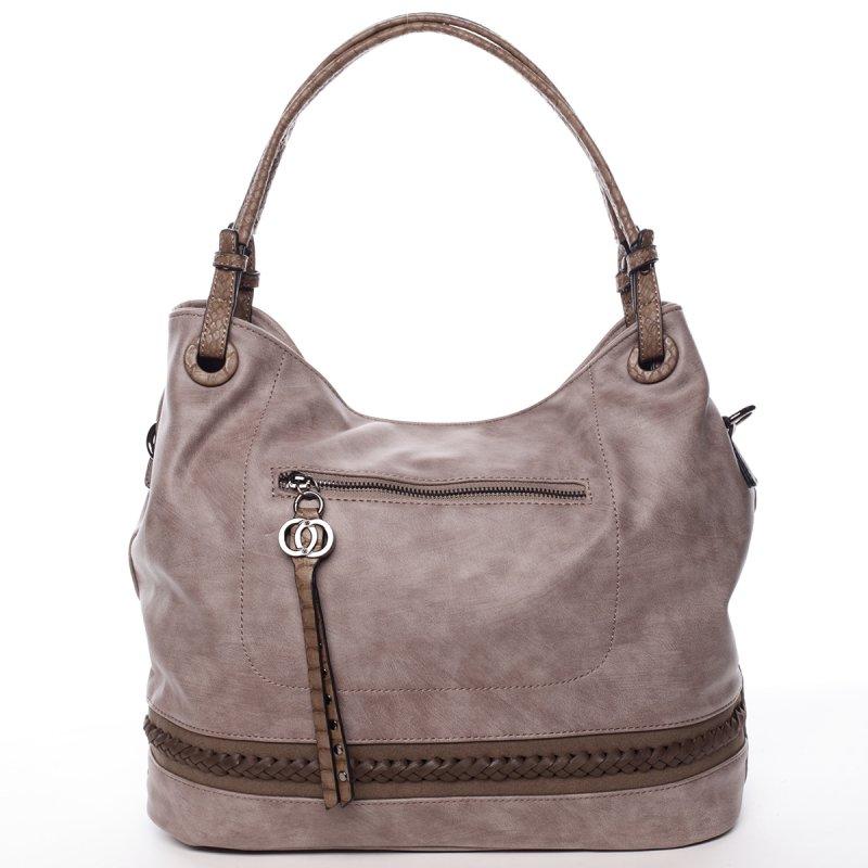 Stylová dámská kabelka Simone, šedo-krémová