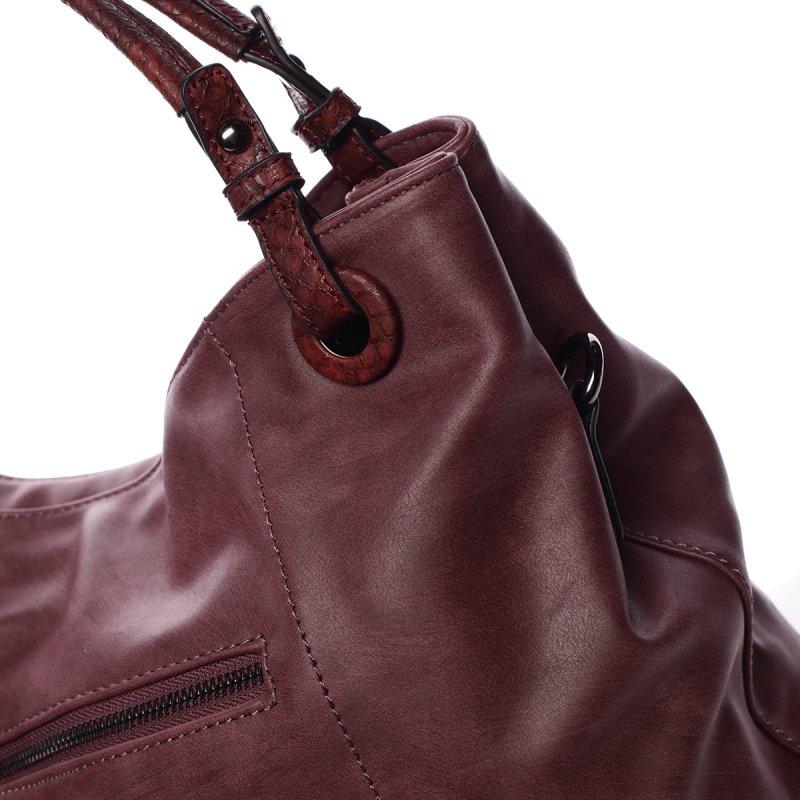 Stylová dámská kabelka Simone, vínově červená
