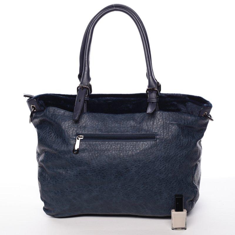 Měkká dámská kabelka Avril, námořnicky modrá