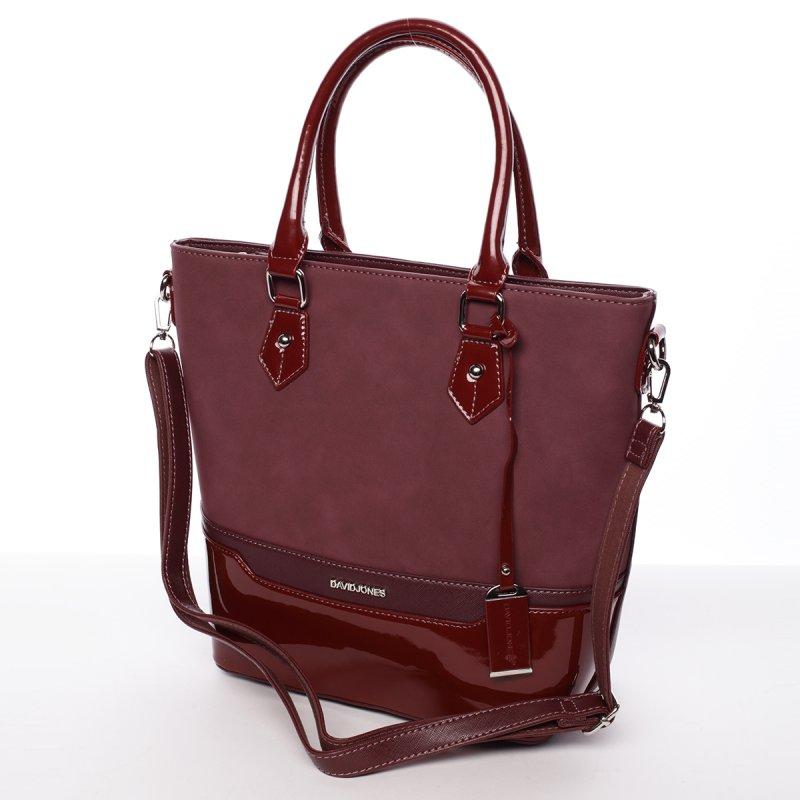 Vínově červená dámská kabelka Chantal