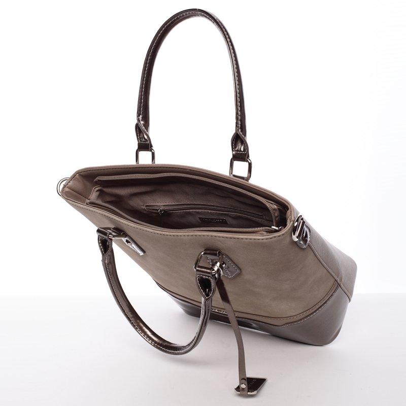 Šedá/béžová dámská kabelka Chantal