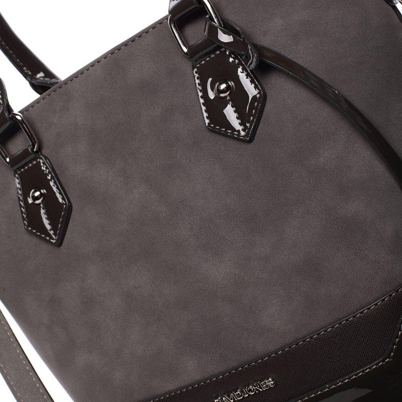 Tmavě šedá dámská kabelka Chantal