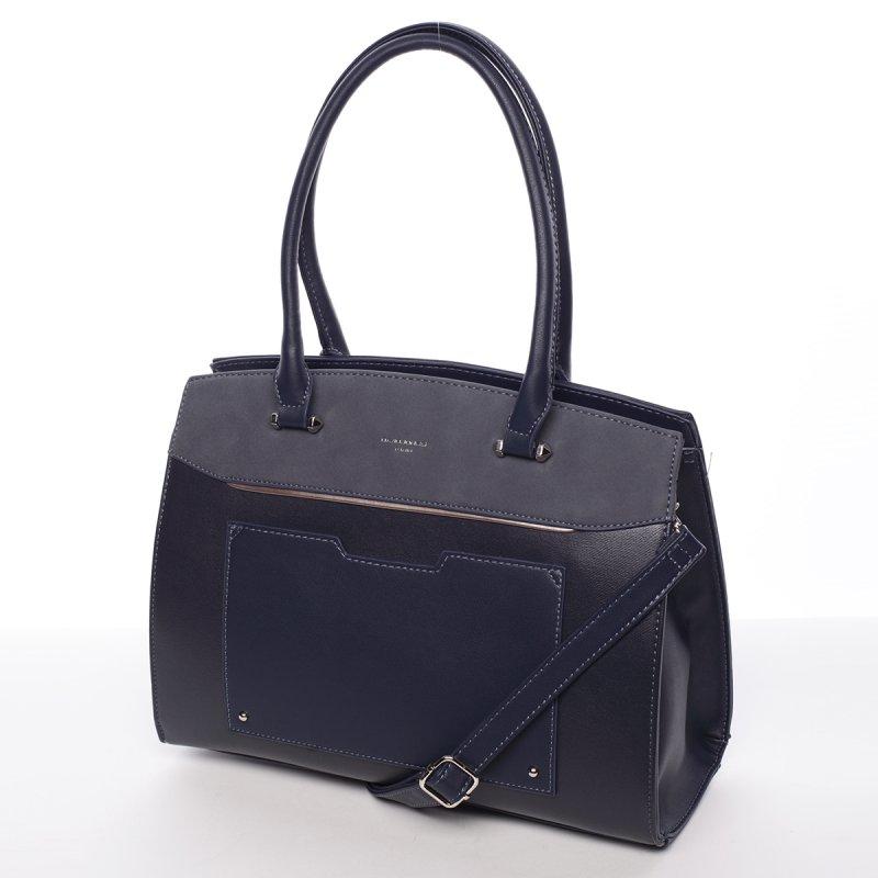 Atraktivní pevná dámská kabelka Michele, tmavě modrá