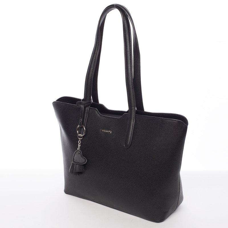 Lehká velká dámská kabelka Angela, černá