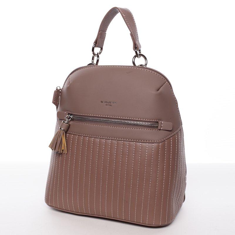 Elegantní dámský batoh Belinda, tmavě růžový