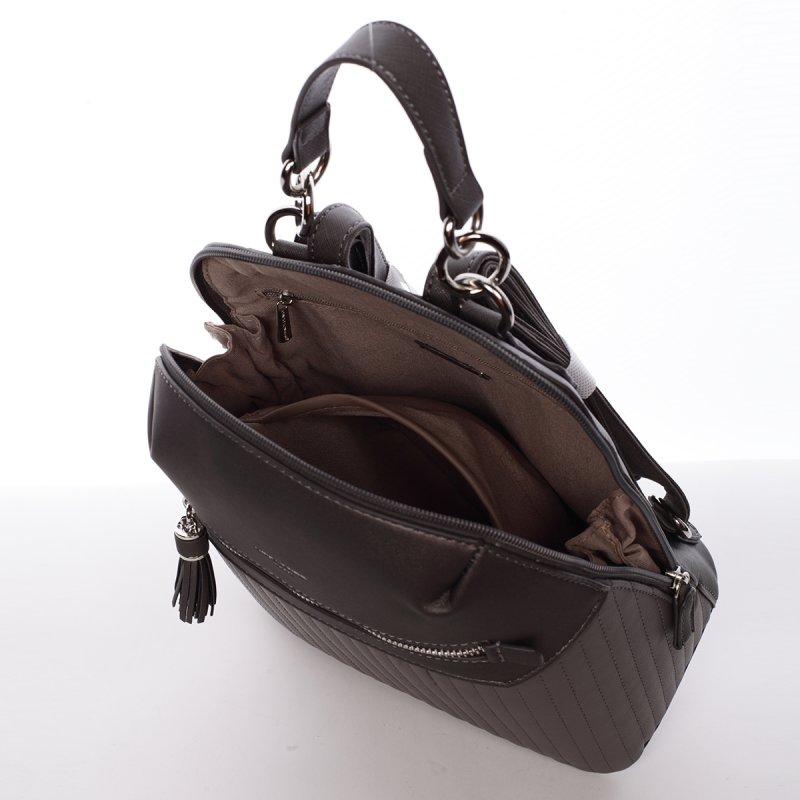 Elegantní dámský batoh Belinda, tmavě šedý