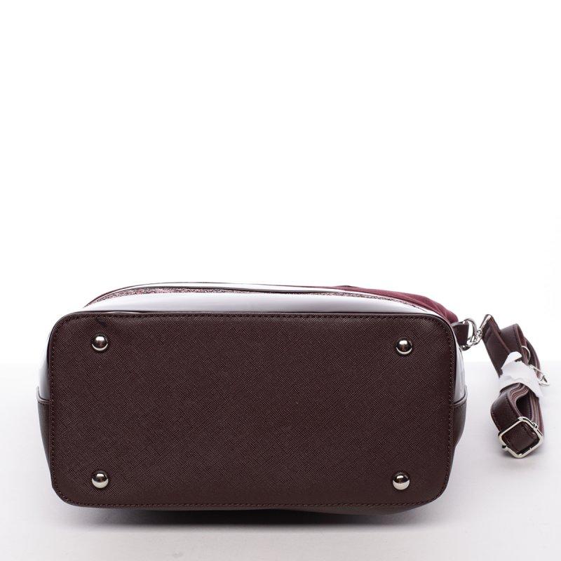 Exkluzivní dámská kabelka Caridad, vínová