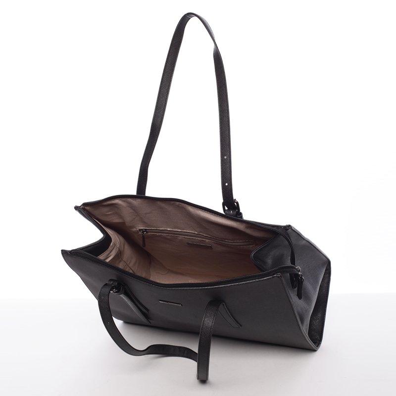 Atraktivní velká dámská kabelka Carla, černá
