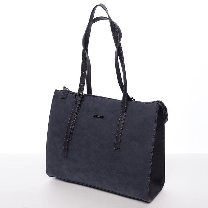 Atraktivní velká dámská kabelka Carla,tmavě modrá
