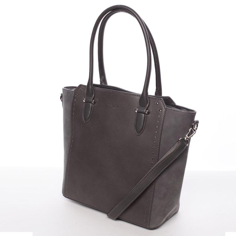 Moderní jemná dámská kabelka Estafania, tmavě šedá