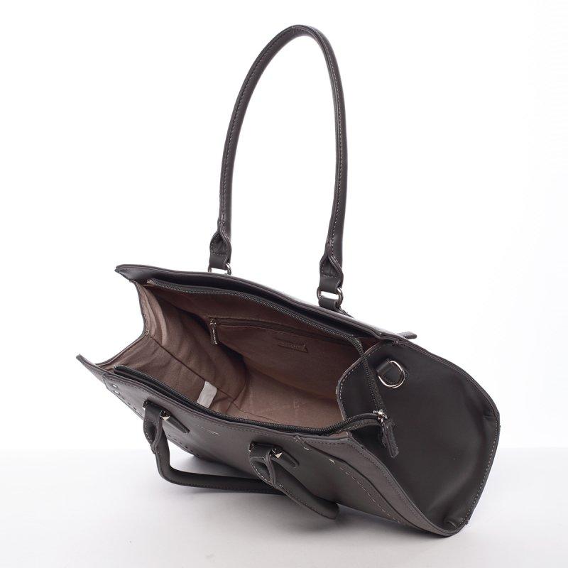 Elegantní středně velká dámská kabelka Dolores, šedá