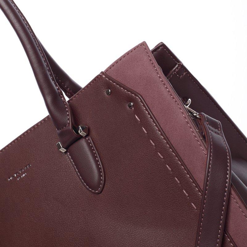 Elegantní středně velká dámská kabelka Dolores, vínová
