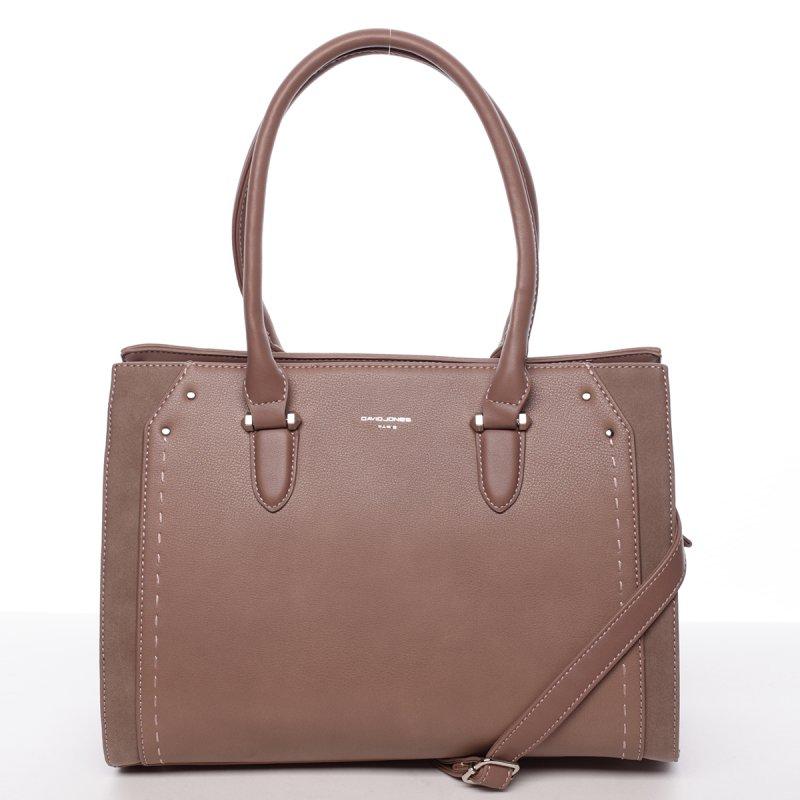 Elegantní středně velká dámská kabelka Dolores, tmavě růžová