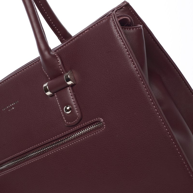 Originální dámská kabelka přes rameno Eugenie, vínová