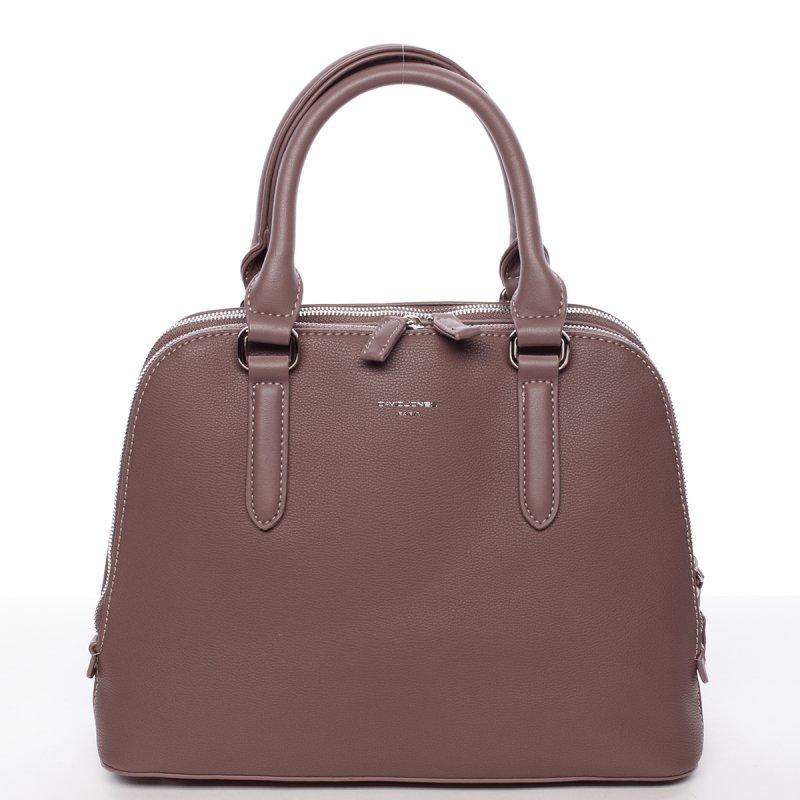 Decentní dámská kabelka se dvěma zipy Elisabeth, starorůžová