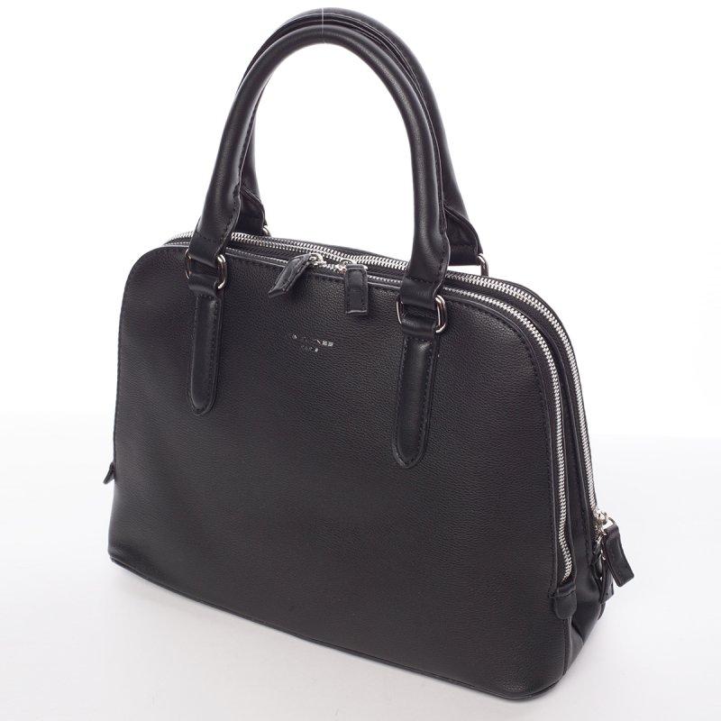 Decentní dámská kabelka se dvěma zipy Elisabeth, černá