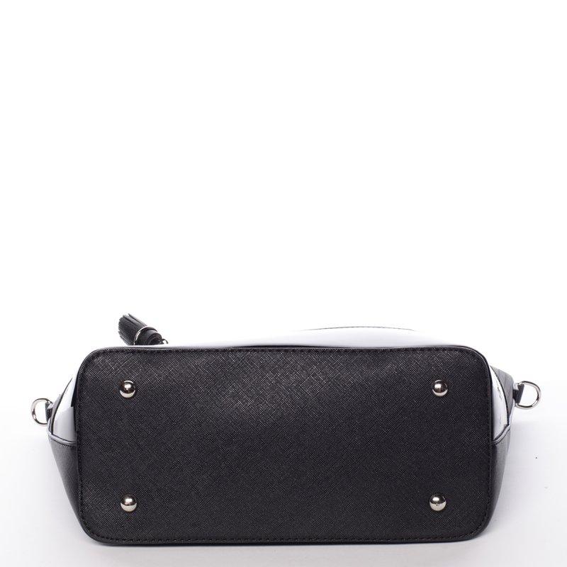 Prošívaná dámská kabelka přes rameno Nathalie, černá