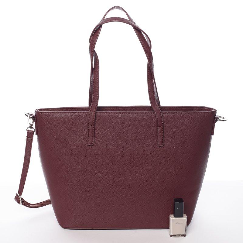 Prošívaná dámská kabelka přes rameno Nathalie, vínově červená