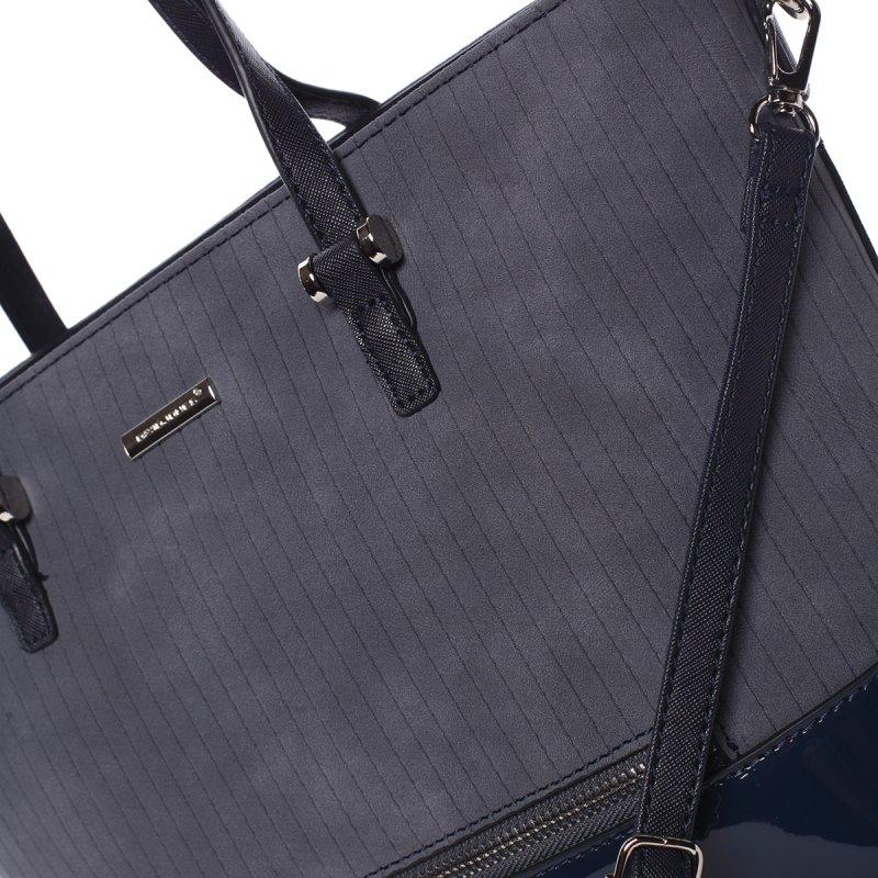 Prošívaná dámská kabelka přes rameno Nathalie, modrá