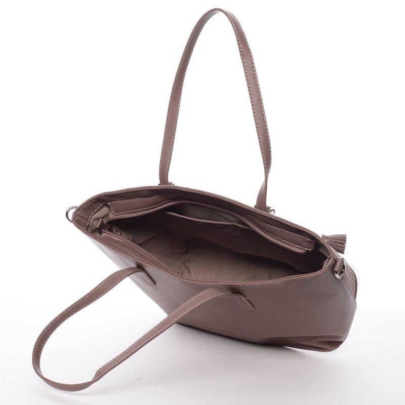 Prošívaná dámská kabelka přes rameno Nathalie, růžová