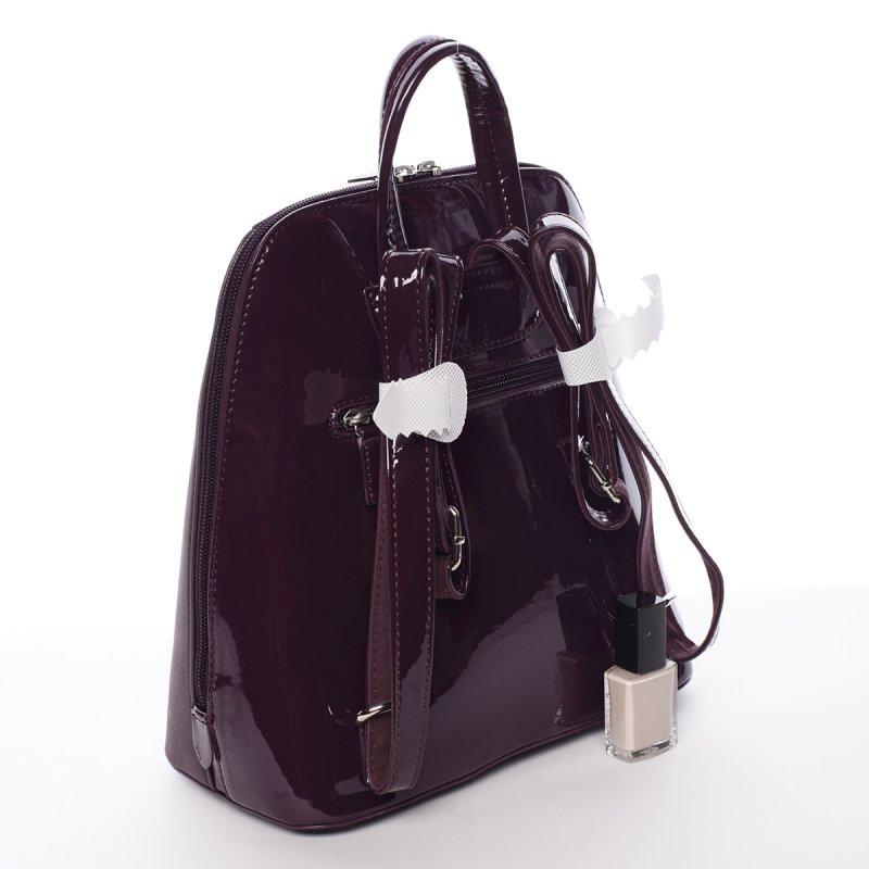 Lesklý dámský batoh David Jones Angela, fialový