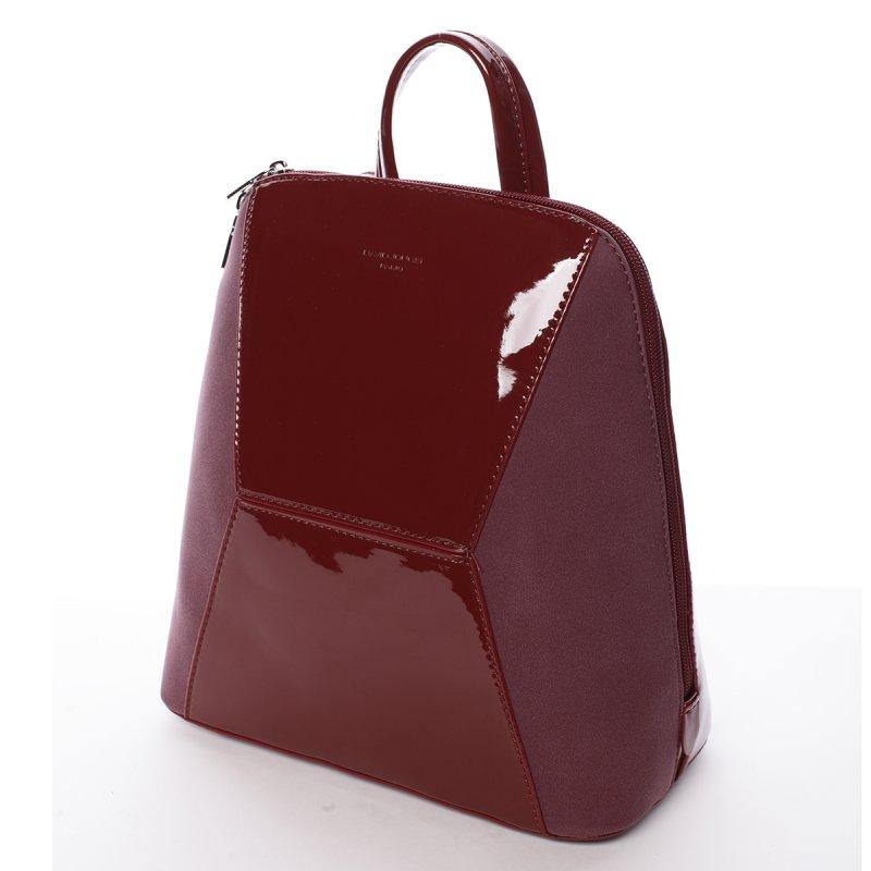 9870110e92 Lesklý dámský batoh David Jones Angela